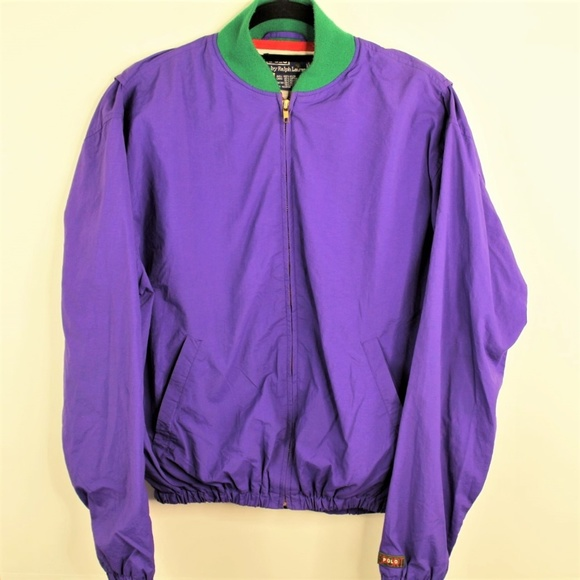 Polo by Ralph Lauren Other - Polo Ralph Lauren Nylon Colorblock Patch Jacket